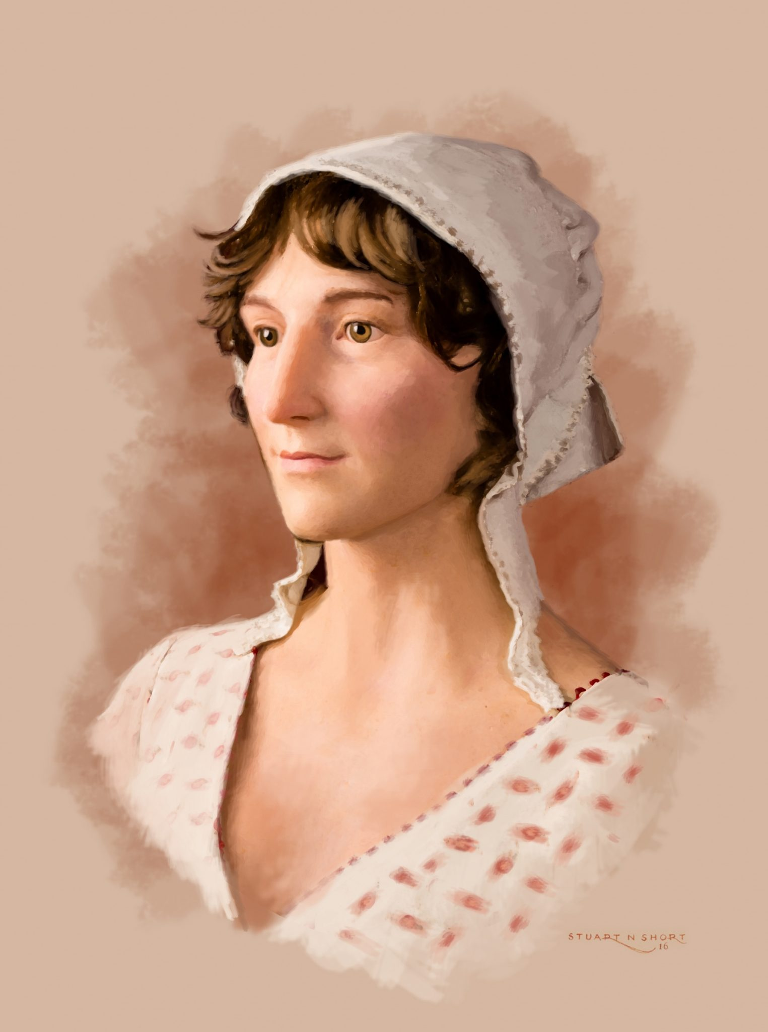 Jane Austen wax portrait